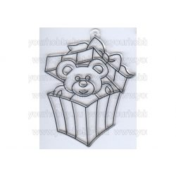 Kifesthető sablon S-1 Maci a dobozban (S4)