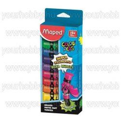 Tempera készlet 12 szín, 12x12 ml, MAPED