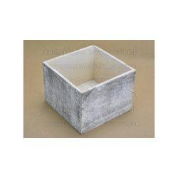 Fa dekorláda szürke koptatott kocka 16x16x12 cm 2352G