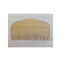 Fa naptár tábla + 12 db táblácska 15x35 cm