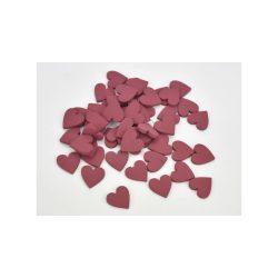 Fa szívek piros 2 cm 5db/cs