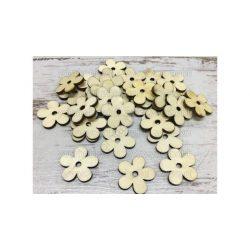 Fa virág natúr 3cm 30db/csomag 4256