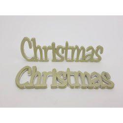 Christmas felirat metál 15 cm - zöldarany