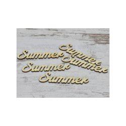 """Fa """"Summer"""" felirat 9,5x2,5 cm"""