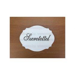 """Fa """" Szeretettel """" kiesős tábla, fehér  7,5x10 cm"""