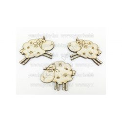 Fa ugráló bárányok natúr 6cm 3db/csomag 5926