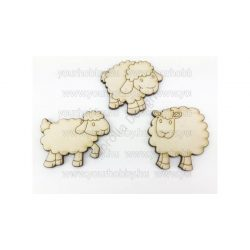 Fa legelő bárányok natúr 5 cm 3db/csomag 5927