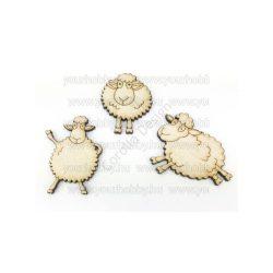 Fa Táncoló bárányok  natúr 5cm 3db/csomag 5928