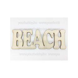 """Fa """"Beach"""" felirat 6x16 cm"""