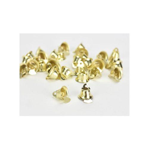 Fém kiscsengő arany 15mm 30db/cs
