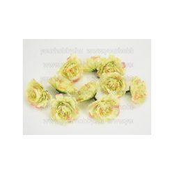 Fodros virágfej cirmos zöld 4 cm 10db/cs