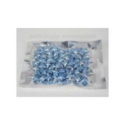 Polisztirol csillag kicsi csillámos 2 cm kb.80db - country kék