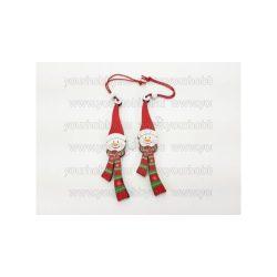 Akasztós karácsonyi szett - hóember