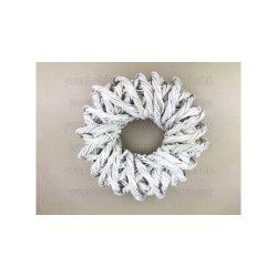 Sodrott koszorú fehér 30cm 2271
