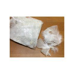 Madártoll fehér 7-8 cm 10g