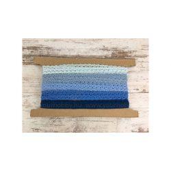Pamut csipke kék árnyalatai 5x2m 1cm széles