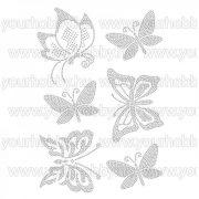 Vasalható strasszköves textil transzfer Pillangók A4