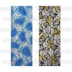 Öntapadó textil jellegű anyag, Barokk mintás 10x29 cm 2 db