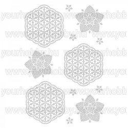 Vasalható strasszköves textil transzfer Élet virágai A4