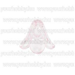 Angyalszoknya 1,3cm x 1,5cm - átlátszó rózsaszín