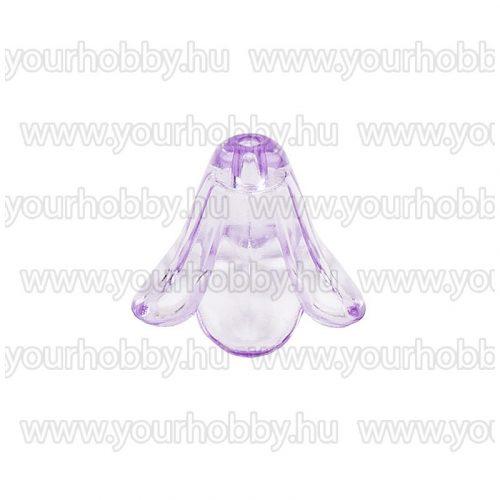 Angyalszoknya 1,3cm x 1,5cm - átlátszó halványlila