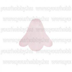 Angyalszoknya 1,3cm x 1,5cm - opál rózsaszín