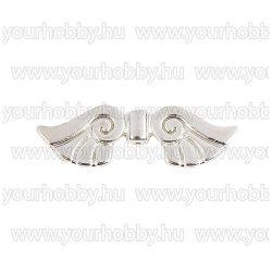 Angyalszárny '2' 3,7cm - ezüst