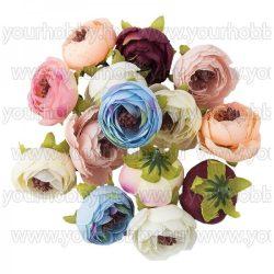 """Dekorációs virágok, """"Boglárka"""" 4cm különböző színűek, 14db"""