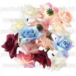 """Dekorációs virágok, """"Rózsa"""", Ø 5cm, különböző színűek, 18g"""