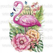 Vasalható Textil Transzfer Trópusi Flamingó A4