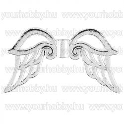 Angyalszárny '3' 3cm - ezüst