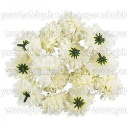 """Dekorációs virágok, """"Dahlia 3"""", Ø 5cm, fehér színű, 14db"""