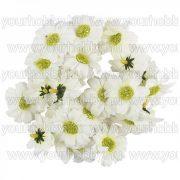 "Dekorációs virágok, ""Margaréta 3"", 4cm fehér, 27db"