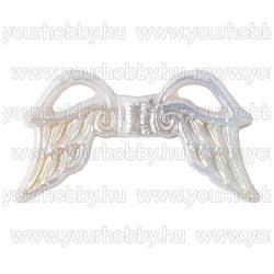 Angyalszárny '3' akril 1,9cm 5db - fehér irizáló