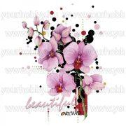 Vasalható Textil Transzfer Orchidea A4