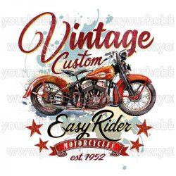 Vasalható Textil Transzfer Vintage Motor A4