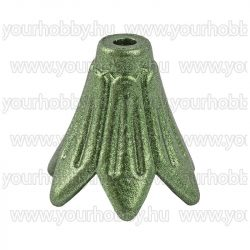 Angyalszoknya 'petúnia' 1,5cm x 1,4cm - metál-matt fenyőzöld