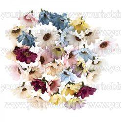 """Dekorációs virágok, """"Margaréta 4"""" 4cm, különböző színűek, 30db"""