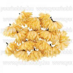 """Dekorációs virágok, """"Dahlia 4"""", 6cm, barack színű, 15db"""