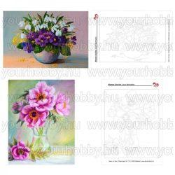 Sablon virágcsendélet festéséhez A/4 2db-os
