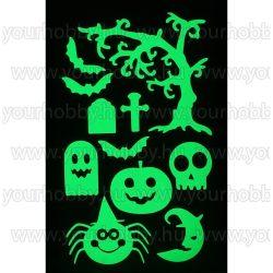 Foszforeszkáló dekor matrica - halloween 3.