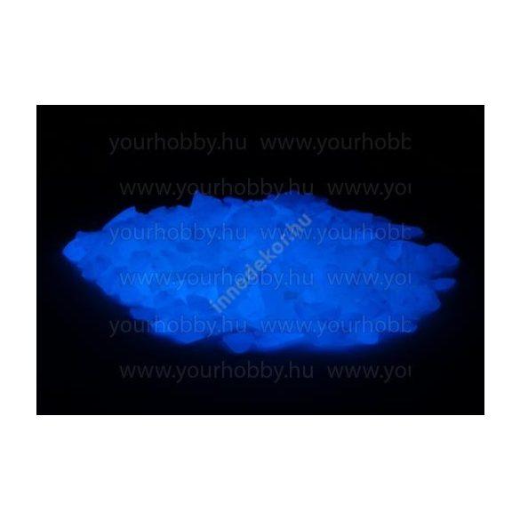 Foszforeszkáló üvegtörmelék égkék 180g