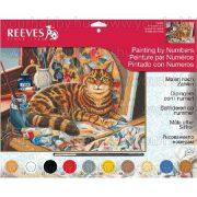 Reeves festés számok után - Művész cica 40x30 cm