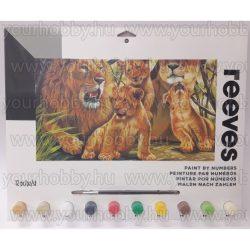 Reeves számozott kifestő - Oroszlánok 30x40 cm