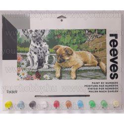 Reeves festés számok után Két kutya és egy cica