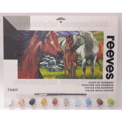 Reeves számozott kifestő - Vad lovak