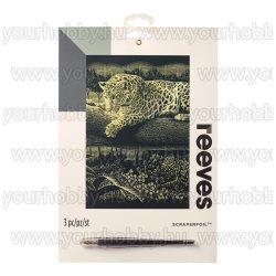 Reeves arany képkarcoló készlet - Leopárd 20X25,5 cm