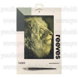 Reeves arany képkarcoló készlet - Oroszlán 20X25,5 cm