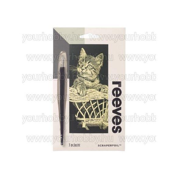 Reeves arany képkarcoló készlet - Cica  11X18 cm