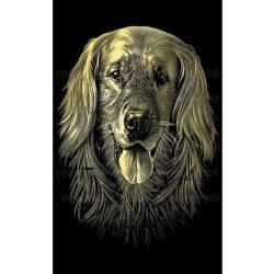 Reeves arany képkarcoló készlet - Kutyus 11X18 cm